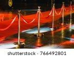 portable barrier for queue... | Shutterstock . vector #766492801