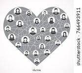 social love  a heart made of...   Shutterstock .eps vector #766493911