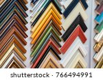 selection of picture frames on... | Shutterstock . vector #766494991