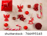 christmas background made of... | Shutterstock . vector #766495165