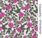 floral seamless pattern. hand...   Shutterstock .eps vector #766499911