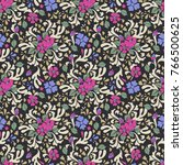 abstract floral seamless...   Shutterstock .eps vector #766500625