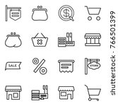 thin line icon set   shop... | Shutterstock .eps vector #766501399