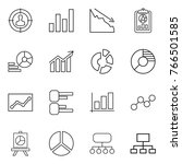 thin line icon set   target... | Shutterstock .eps vector #766501585