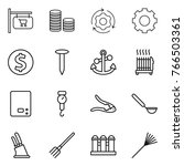 thin line icon set   shop... | Shutterstock .eps vector #766503361