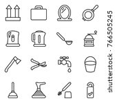 thin line icon set   cargo top... | Shutterstock .eps vector #766505245