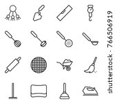 thin line icon set   share ... | Shutterstock .eps vector #766506919