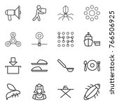 thin line icon set  ... | Shutterstock .eps vector #766506925