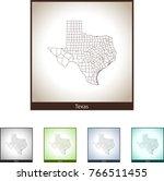 map of texas | Shutterstock .eps vector #766511455