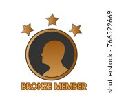 bronze member with human and... | Shutterstock .eps vector #766522669