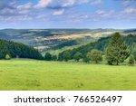 view on meadow near... | Shutterstock . vector #766526497