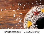 traditional homemade christmas... | Shutterstock . vector #766528549