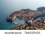 old town of dubrovnik  croatia  ... | Shutterstock . vector #766529101