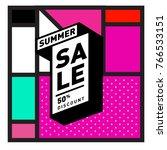 summer sale memphis style web... | Shutterstock .eps vector #766533151