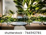 classy wedding setting.table...   Shutterstock . vector #766542781