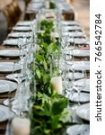 classy wedding setting.table... | Shutterstock . vector #766542784
