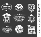 collection of logo badges and... | Shutterstock .eps vector #766546525