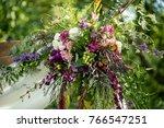 wedding ceremony decoration | Shutterstock . vector #766547251