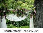 wedding ceremony decoration | Shutterstock . vector #766547254
