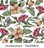 flowers. vector. beautiful... | Shutterstock .eps vector #76654825