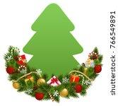 vector christmas decoration...   Shutterstock .eps vector #766549891
