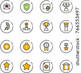 line vector icon set   star...   Shutterstock .eps vector #766553497