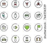 line vector icon set   shower...   Shutterstock .eps vector #766556539