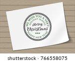 round in frame badge merry...   Shutterstock .eps vector #766558075