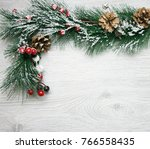 christmas and new year's... | Shutterstock . vector #766558435