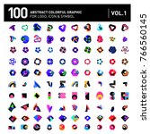 logo and icon mega collection.... | Shutterstock .eps vector #766560145