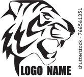 tiger face logo   Shutterstock .eps vector #766561351