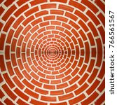 circle brick wall texture... | Shutterstock . vector #766561567
