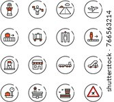 line vector icon set   airport... | Shutterstock .eps vector #766563214