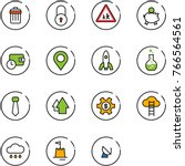 line vector icon set   trash... | Shutterstock .eps vector #766564561