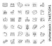 simple set of sleep related... | Shutterstock .eps vector #766571041