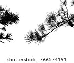realistic pine tree silhouette  ... | Shutterstock .eps vector #766574191