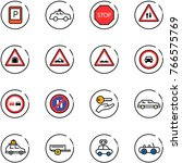 line vector icon set   parking... | Shutterstock .eps vector #766575769