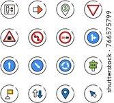 line vector icon set   elevator ... | Shutterstock .eps vector #766575799