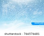 falling snow on a blue... | Shutterstock .eps vector #766576681