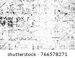 grunge black and white pattern. ... | Shutterstock . vector #766578271