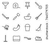 thin line icon set   funnel ... | Shutterstock .eps vector #766579705