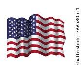 vector waving american flag.... | Shutterstock .eps vector #766580551