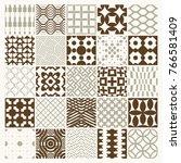 vector graphic vintage textures ... | Shutterstock .eps vector #766581409