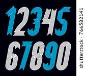 set of cool geometric vector... | Shutterstock .eps vector #766582141