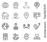 thin line icon set   globe ... | Shutterstock .eps vector #766582549