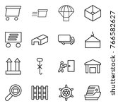 thin line icon set   delivery ... | Shutterstock .eps vector #766582627