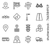 thin line icon set   pointer ... | Shutterstock .eps vector #766584919