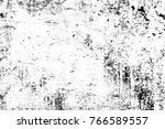 grunge black and white pattern. ... | Shutterstock . vector #766589557