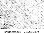 grunge black and white pattern. ... | Shutterstock . vector #766589575