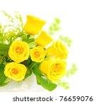 Fresh Yellow Roses Border...